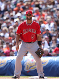 Apr 20, 2014, Los Angeles Angels of Anaheim vs Detroit Tigers - Albert Pujols Fotografisk tryk af Leon Halip