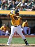 Apr 5, 2014, Seattle Mariners vs Oakland Athletics - Yoenis Cespedes Photographic Print by Brad Mangin