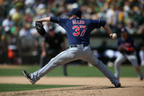 Aug 18, 2013, Cleveland Indians vs Oakland Athletics - Cody Allen Photographic Print by Brad Mangin