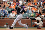 Jun 14, 2014, Colorado Rockies vs San Francisco Giants - Troy Tulowitzki Photographic Print by Ezra Shaw