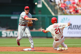Jun 21, 2014, Philadelphia Phillies vs St. Louis Cardinals - Allen Craig, Chase Utley Photographic Print by Dilip Vishwanat