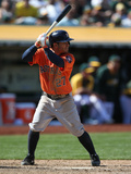 Apr 20, 2014, Houston Astros vs Oakland Athletics - Jose Altuve Photographic Print by Brad Mangin