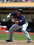 Aug 18, 2013, Cleveland Indians vs Oakland Athletics - Michael Brantley Photographic Print by Brad Mangin