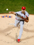 Apr 22, 2014, St. Louis Cardinals vs New York Mets - Adam Wainwright Photographic Print by Jim McIsaac