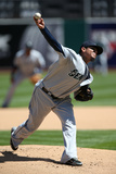 Apr 5, 2014, Seattle Mariners vs Oakland Athletics - Felix Hernandez Photographic Print by Brad Mangin