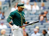 Jun 5, 2014, Oakland Athletics vs New York Yankees - Yoenis Cespedes Photographic Print by Jim McIsaac