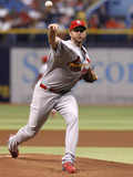 Jun 10, 2014, St Louis Cardinals vs Tampa Bay Rays - Adam Wainwright Photographic Print by Brian Blanco