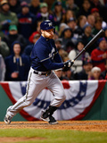 Apr 5, 2014, Milwaukee Brewers vs Boston Red Sox - Jonathan Lucroy Photographic Print by Jared Wickerham
