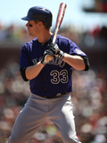 Apr 12, 2014, Colorado Rockies vs San Francisco Giants - Justin Morneau Photographic Print by Brad Mangin