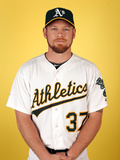 Oakland Athletics Photo Day: Feb 22, 2014 - Brandon Moss Photographic Print by Christian Petersen