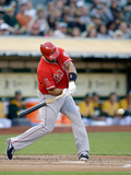 May 31, 2014, Los Angeles Angels of Anaheim vs Oakland Athletics - Albert Pujols Fotografisk tryk af Ezra Shaw