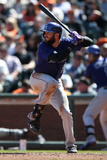 Apr 12, 2014, Colorado Rockies vs San Francisco Giants - Charlie Blackmon Photographic Print by Brad Mangin