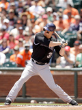 Jun 14, 2014, Colorado Rockies vs San Francisco Giants - Justin Morneau Photographic Print by Ezra Shaw