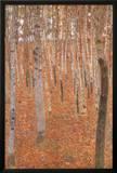 Gustav Klimt Forest of Beech Trees Art Poster Print Print