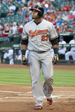 Jun 5, 2014, Baltimore Orioles vs Texas Rangers - Nelson Cruz Photographic Print by Cooper Neill