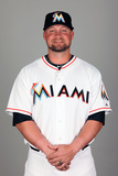 2014 Miami Marlins Photo Day: Feb 25 - Casey McGehee Photographic Print by Eliot J. Schechter