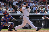 May 4, 2014, New York Mets vs Colorado Rockies - Justin Morneau Photographic Print by Doug Pensinger