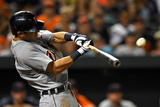 May 12, 2014, Detroit Tigers vs Baltimore Orioles - Ian Kinsler Photographic Print by Patrick Smith