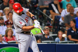 Jun 13, 2014, Los Angeles Angels of Anaheim vs Atlanta Braves - Albert Pujols Fotografisk tryk af Daniel Shirey