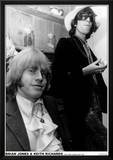 Brian Jones & Keith Richards-Hyde Park Apartment 1968 Posters