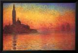 Monet Dusk Venice Posters by Claude Monet