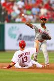 Jun 19, 2014, Philadelphia Phillies vs St. Louis Cardinals - Jimmy Rollins, Matt Carpenter Photographic Print by Dilip Vishwanat