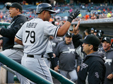 Apr 23, 2014, Chicago White Sox vs Detroit Tigers - Jose Abreu, Robin Ventura Photographic Print by Gregory Shamus