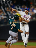 Jun 25, 2014, Oakland Athletics vs New York Mets - Daniel Murphy Photographic Print by Mike Stobe
