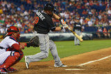Jun 23, 2014, Miami Marlins vs Philadelphia Phillies - Casey McGehee Photographic Print by Drew Hallowell