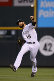 May 6, 2014, Texas Rangers vs Colorado Rockies - Charlie Blackmon Photographic Print by Doug Pensinger