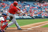 May 14, 2014, Los Angeles Angels of Anaheim vs Philadelphia Phillies - Albert Pujols Fotografisk tryk af Drew Hallowell
