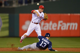 Jun 11, 2014, San Diego Padres vs Philadelphia Phillies - Chase Utley, Chris Denorfia Photographic Print by Drew Hallowell