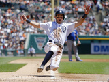 Jun 5, 2014, Toronto Blue Jays vs Detroit Tigers - Ian Kinsler Photographic Print by Duane Burleson