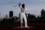 Apr 14, 2013, Cincinnati Reds vs Pittsburgh Pirates - Andrew McCutchen Photographic Print by Jared Wickerham