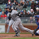 May 16, 2014, Milwaukee Brewers vs Chicago Cubs - Jonathan Lucroy Photographic Print by Jonathan Daniel