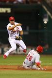 Jun 20, 2014, Philadelphia Phillies vs St. Louis Cardinals - Chase Utley, Jhonny Peralta Fotografisk tryk af Dilip Vishwanat