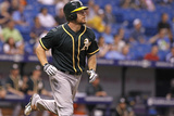 May 21, 2014, Oakland Athletics  vs Tampa Bay Rays - Brandon Moss Photographic Print by Brian Blanco