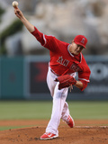 May 19, 2014, Houston Astros vs Los Angeles Angels of Anaheim - Garrett Richards Photographic Print by Jeff Gross