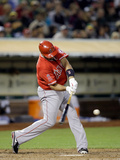 May 31, 2014, Los Angeles Angels of Anaheim vs Oakland Athletics - Albert Pujols Photographic Print by Ezra Shaw