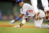 May 6, 2014, Los Angeles Dodgers vs Washington Nationals - Dee Gordon Photographic Print by Greg Fiume