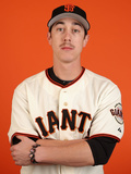 San Francisco Giants Photo Day: Febuary 23, 2014 - Tim Lincecum Photographic Print by Christian Petersen