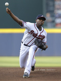 Jun 16, 2014, Philadelphia Phillies vs Atlanta Braves - Julio Teheran Photographic Print by Mike Zarrilli