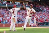 Jun 21, 2014, Philadelphia Phillies vs St. Louis Cardinals - Yadier Molina, Matt Carpenter Photographic Print by Dilip Vishwanat