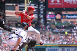 Apr 20, 2014, Los Angeles Angels of Anaheim vs Detroit Tigers - Mike Trout Photographic Print by Leon Halip