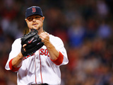 Jun 12, 2014, Cleveland Indians vs Boston Red Sox - Jon Lester Photographic Print by Jared Wickerham