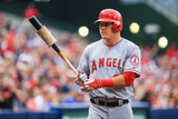 Jun 13, 2014, Los Angeles Angels of Anaheim vs Atlanta Braves - Mike Trout Photographic Print by Daniel Shirey