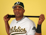Oakland Athletics Photo Day: Feb 22, 2014 - Yoenis Cespedes Photographic Print by Christian Petersen