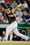 May 28, 2014, Miami Marlins vs Washington Nationals - Casey McGehee Photographic Print by Greg Fiume