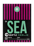 SEA Seattle Luggage Tag 2 Poster by  NaxArt