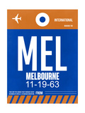 MEL Melbourne Luggage Tag 2 Prints by  NaxArt